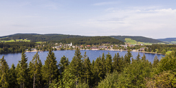 Germany, Baden-Wurttemberg, Black Forest, Titisee-Neustadt at Lake Titisee - WDF04266