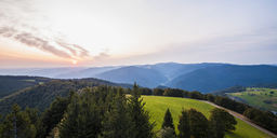 Germany, Baden-Wurttemberg, Black Forest, View from Schauinsland at morning - WDF04275
