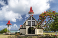 Mauritius, Cap Malheureux, Chapelle Notre-Dame-Auxiliatrice - PCF00350