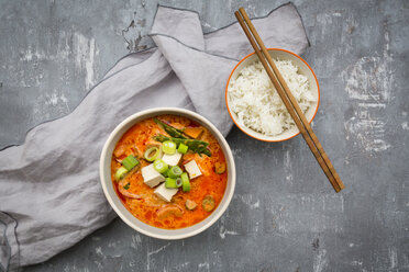 Red curry dish with smoked tofu - LVF06608