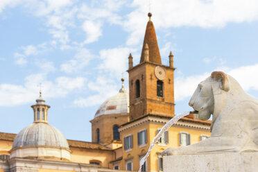 Italy, Rome, gargoyle in front of Santa Maria del Popolo - CSTF01603