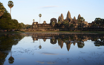 Cambodia, Siem Riep, Angkor Wat at sunset - IGGF00400