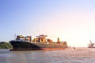 Germany, Hamburg, Container ship - PUF01089