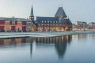 Denmark, Aarhus, view to harbour and custom house - KEBF00705