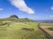 Mauritius, Highlands, sugarcane fields and Terre Rouge - FOF09695