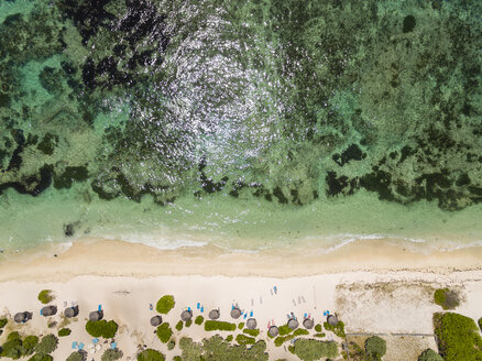 Mauritius, East Coast, Indian Ocean, Flacq, aerial view of beach - FOF09704