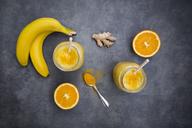 Orange banana smoothie with ginger and curcuma - LVF06611