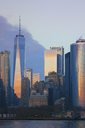USA, New York City, Manhattan, One World Trade Center at sunset - CMF00787