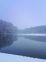 Germany, Northrhine Westfalia, Cologne, city district Lindenthal, Adenauer Weiher in winter - GWF05396