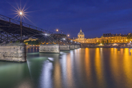France, Paris, Art bridge in the evening - RPSF00175