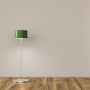 Floor lamp in sparse room, 3d rendering - UWF01335