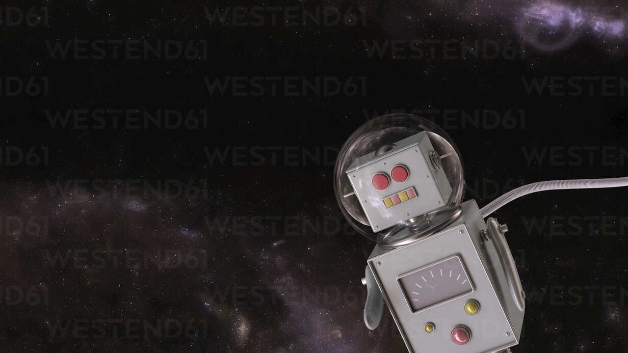 Robot in the universe, 3d rendering - UWF01365 - HuberStarke/Westend61