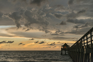 USA, Florida, Naples, Naples Pier at sunset - SHF02004