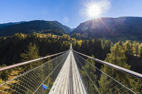 Switzerland, Valais, Goms Bridge, swing bridge - WDF04367