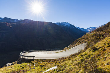 Switzerland, Valais, Alps, Furka pass, hairpin bend - WDF04391