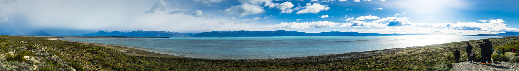 Argentina, El Calafate, Patagonia, Panoramic view of Lago Argentino - AM05626