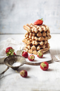 Belgian waffles with strawberries and powdered sugar - SBDF03447
