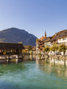 Switzerland, Bern, Bernese Oberland, Interlaken, Old town, Aare river - WDF04411