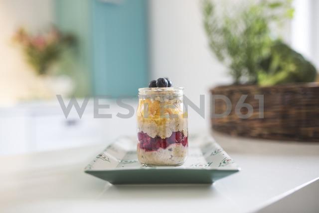 Jar with fruit dessert - ASCF00798