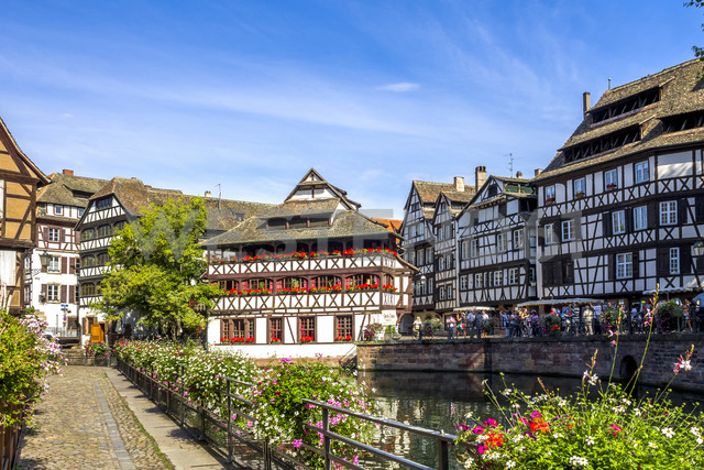 France, Alsace, Strasbourg, Old town, Petite France - PUF01279