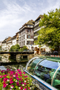 France, Alsace, Strasbourg, Old town, tourboat - PUF01282