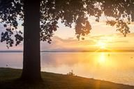 Germany, Mecklenburg-Western Pomerania, Schwerin, Lake Schwerin at sunset - PUF01294