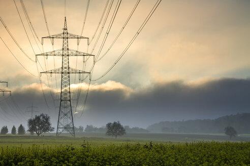 Germany, Hesse, Taunus, power transmission line - PUF01297