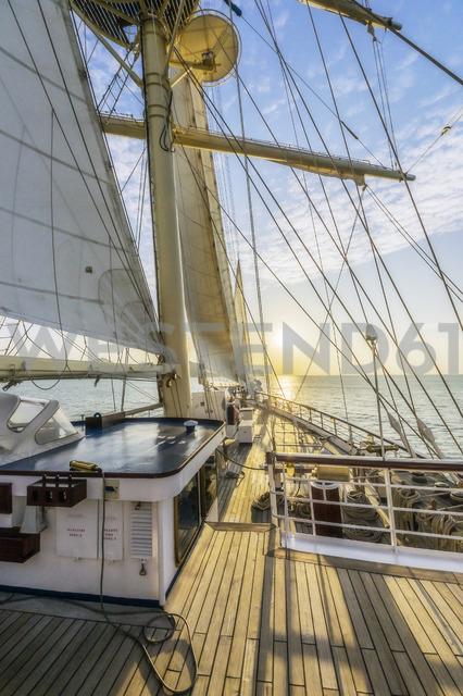 Thailand, sailing ship at sunset - THA02136