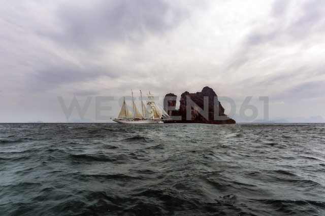 Thailand, Andaman Sea, sailing ship - THAF02142