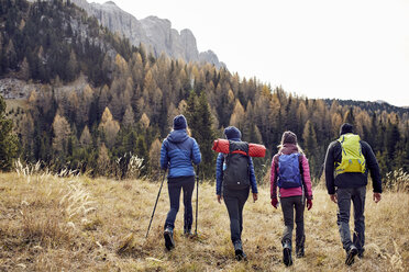Group of friends hiking in the mountains - PNEF00439
