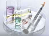 Ampullae in petri dish, syringe - ABRF00080
