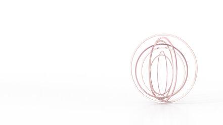 Abstract balancing rings, 3d rendering - AHUF00474