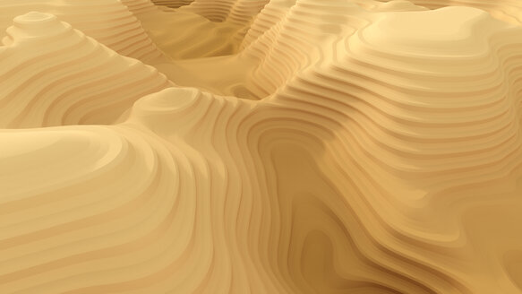 Abstract canyon pattern, 3d rendering - AHUF00489
