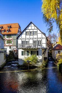 Germany, Baden-Wuerttemberg, Ulm, Fischerviertel and River Blau - PUF01303