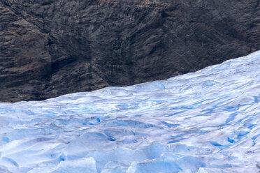 USA, Alaska, Juneau, Mendenhall glacier, rock - MMAF00245