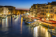 Italy, Veneto, Venice, Canal Grande in the evening - YRF00194