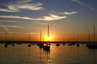 Germany, Bavaria, Ammersee at sunset - JTF00905