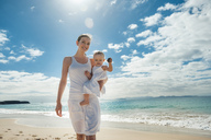 Mother walking with little daughter on the beach - DIGF03264