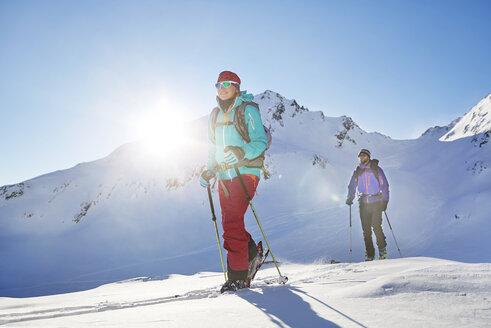 Austria, Tyrol, Kuehtai , freeride skiers on a ski tour - CVF00145