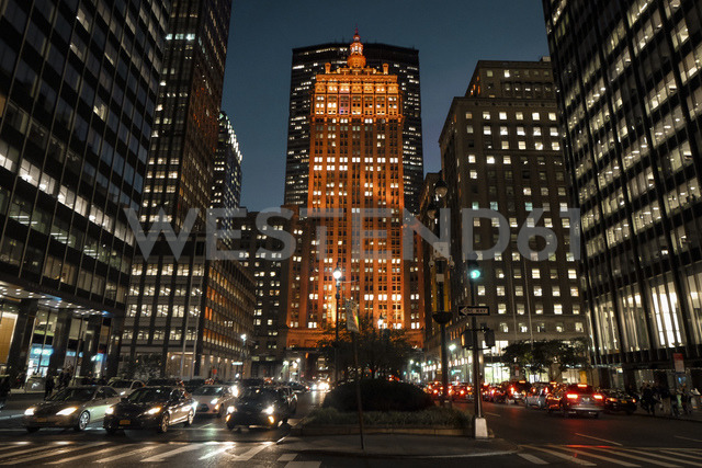 USA, New York City, skyscrapers at night - SEEF00014