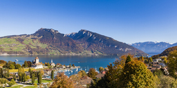 Switzerland, Canton of Bern, Spiez, Lake Thun and Spiez Castle - WDF04421