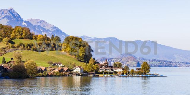 Switzerland, Canton of Bern, Daerligen, Lake Thun - WDF04424