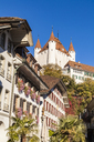Switzerland, Canton of Bern, Thun, old town with Thun Castle - WDF04430