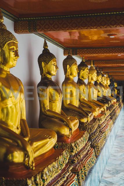 Thailand, Bangkok, row of Buddha statues at Grand Palace - KKAF00856
