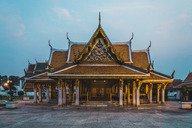 Thailand, Bangkok, view at temple in the evening - KKAF00862