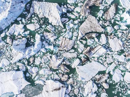 Iceland, Hof, Jokulsarlon lagoon, aerial view - WPEF00105