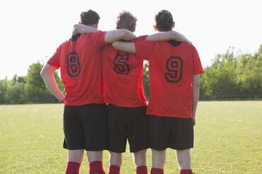 Soccer players celebrating on field - FSIF00907