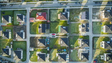 Directly above view of houses in suburb, Berlin, Brandenburg, Germany - FSIF01356