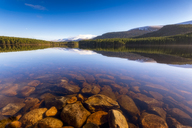 United Kingdom, Scotland, Highlands, Cairngorms National Park, Loch an Eilean in winter - SMAF00948