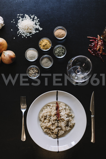 Risotto of ceps with spices - OCAF00128